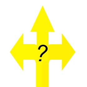 Wenn es notwendig wird Entscheidungen zu treffen und einen neuen Weg zu gehen